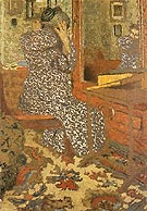 Woman Arranging Her Hair 1900 - Edouard Vuillard reproduction oil painting
