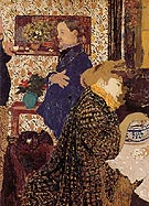 Misia and Vallotton at Villeneuve 1899 - Edouard Vuillard reproduction oil painting