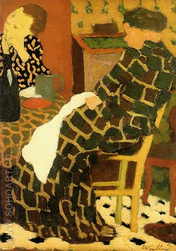 Mother Daughtes c1891 - Edouard Vuillard reproduction oil painting