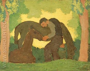Man with Two Horses - Edouard Vuillard reproduction oil painting