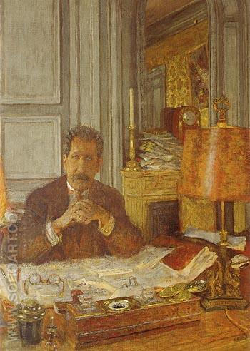 Portrait of Philippe Berthelot 1928 - Edouard Vuillard reproduction oil painting