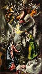 Annunciation c1596 - El Greco reproduction oil painting