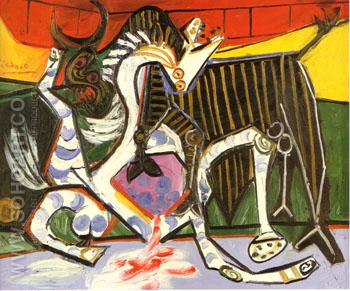 Bullfight 1834 - Pablo Picasso reproduction oil painting