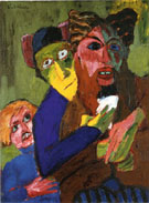 Excited People 1913 - Emile Nolde