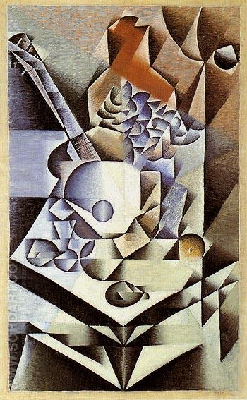 Still Life with Flowers 1912 - Juan Gris reproduction oil painting