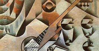 Guitar and Glasses - Juan Gris reproduction oil painting
