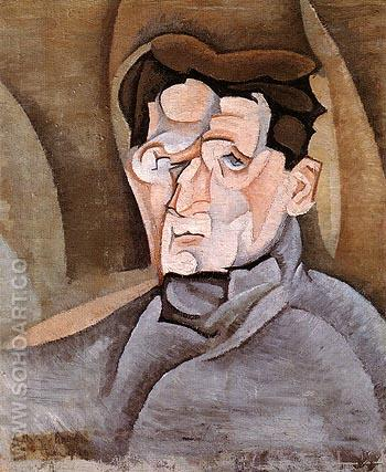 Portrait of Maurice Raynal 1912 - Juan Gris reproduction oil painting