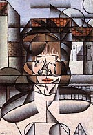 Portrait of Germaine Raynal 1912 - Juan Gris reproduction oil painting