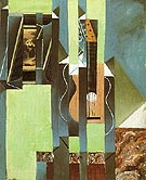 The Guitar 1913 - Juan Gris reproduction oil painting