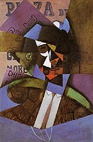 The Bull Fighter 1913 - Juan Gris reproduction oil painting