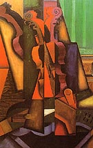 Violin and Guitar 1913 - Juan Gris reproduction oil painting