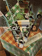 Still Life with Checkered Table Cloth 1915 - Juan Gris