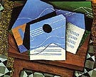 Guitar on the Table 1915 - Juan Gris reproduction oil painting