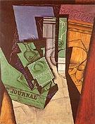 Breakfast 1915 - Juan Gris reproduction oil painting