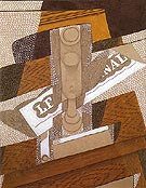 The Pipe 1916 - Juan Gris reproduction oil painting