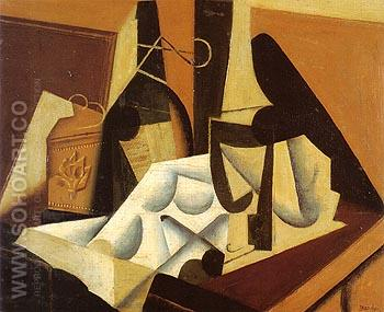 Still Life with White Tablecloth 1916 - Juan Gris reproduction oil painting
