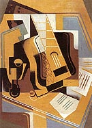 The Guitar 1918 - Juan Gris reproduction oil painting
