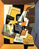 Violin and Glass 1918 - Juan Gris reproduction oil painting