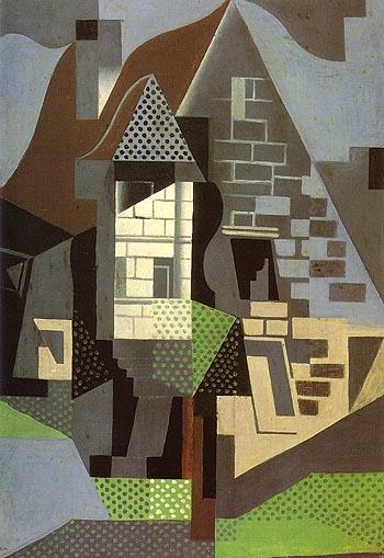 Houses in Beaulieu - Juan Gris reproduction oil painting