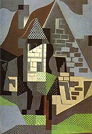 Houses in Beaulieu - Juan Gris reproduction oil painting