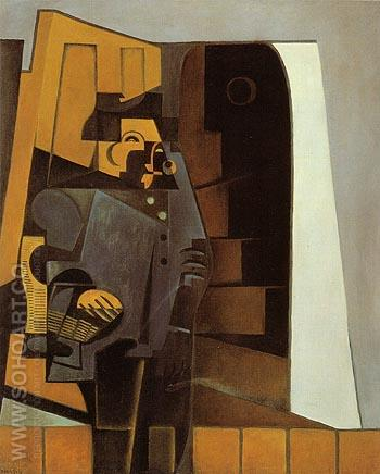 The Peasant in Blue Smock The Miller 1918 - Juan Gris reproduction oil painting