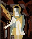Pierrot 1919 - Juan Gris reproduction oil painting
