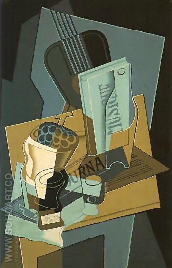 The Book of Music 1922 - Juan Gris reproduction oil painting