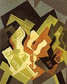 Guitar and Fruit Dish 1919 - Juan Gris reproduction oil painting