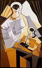 Pierrot 1921 - Juan Gris reproduction oil painting