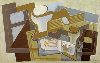 Guitar and Fruit Fish 1921 - Juan Gris reproduction oil painting