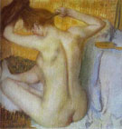 Woman Combing Her Hair 1885 - Edgar Degas reproduction oil painting
