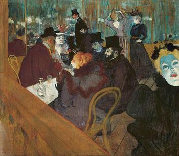 At the Moulin Rouge c1892 - Henri De Toulouse-lautrec reproduction oil painting
