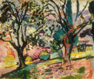 Promenade among the Olive Trees - Henri Matisse reproduction oil painting