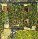 Forester's House in Weissenbach on the Attersee 1914 - Gustav Klimt reproduction oil painting