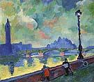 The Thames at Wesminster Bridge 1906 - Andre Derain