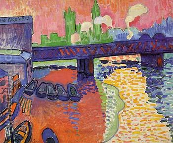 Hungerford Bridge at Charing Cross 1906 1 - Andre Derain reproduction oil painting