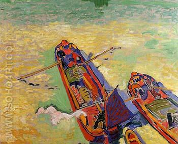 The Two Barges 1906 - Andre Derain reproduction oil painting