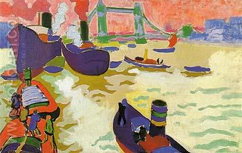 Boats on the Thames 1906 - Andre Derain reproduction oil painting