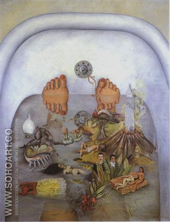 What I saw in the Water 1938 - Frida Kahlo reproduction oil painting