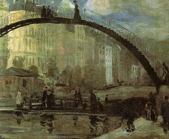 La Villette 1895 - William Glackens reproduction oil painting