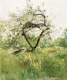 Peach Blossoms Villiers le Bel 1887 - Childe Hassam reproduction oil painting