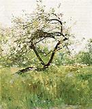 Peach Blossoms Villiers le Bel 1887 - Childe Hassam reproduction oil painting