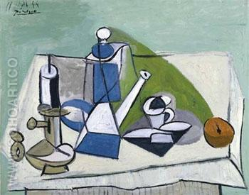 Nature Morte a la Cafetiere 1944 - Pablo Picasso reproduction oil painting