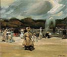 In The Luxembourg 1896 - William Glackens reproduction oil painting