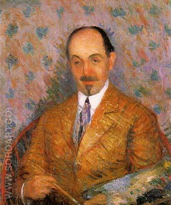 Portrait of Ernest Lawson 1910 - William Glackens reproduction oil painting