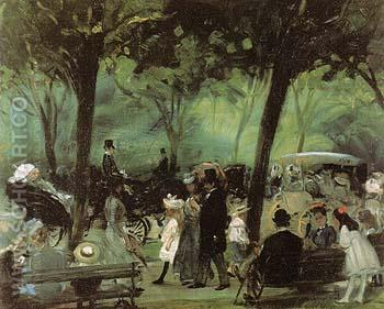 The Drive Central Park 1905 - William Glackens reproduction oil painting