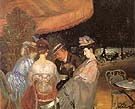 Cafe De La Paix - William Glackens reproduction oil painting