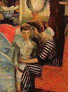 The Artist s Wife and Son 1911 - William Glackens reproduction oil painting