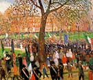 Parade Washington Square 1912 - William Glackens reproduction oil painting