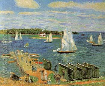 Mahone Bay 1911 - William Glackens reproduction oil painting